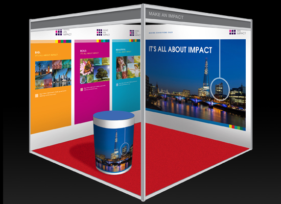 Small Exhibition Stand Sizes : Exhibition stand design portable displays shell clad uk