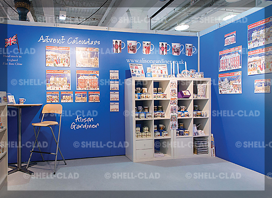 Alison Gardiner promotional materials stand design