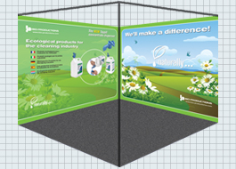 Graphics and design for exhibition display stands