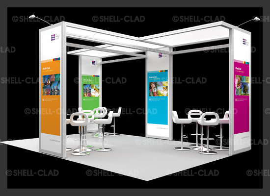 Impact Island tailor made stands for the aspiring exhibitor