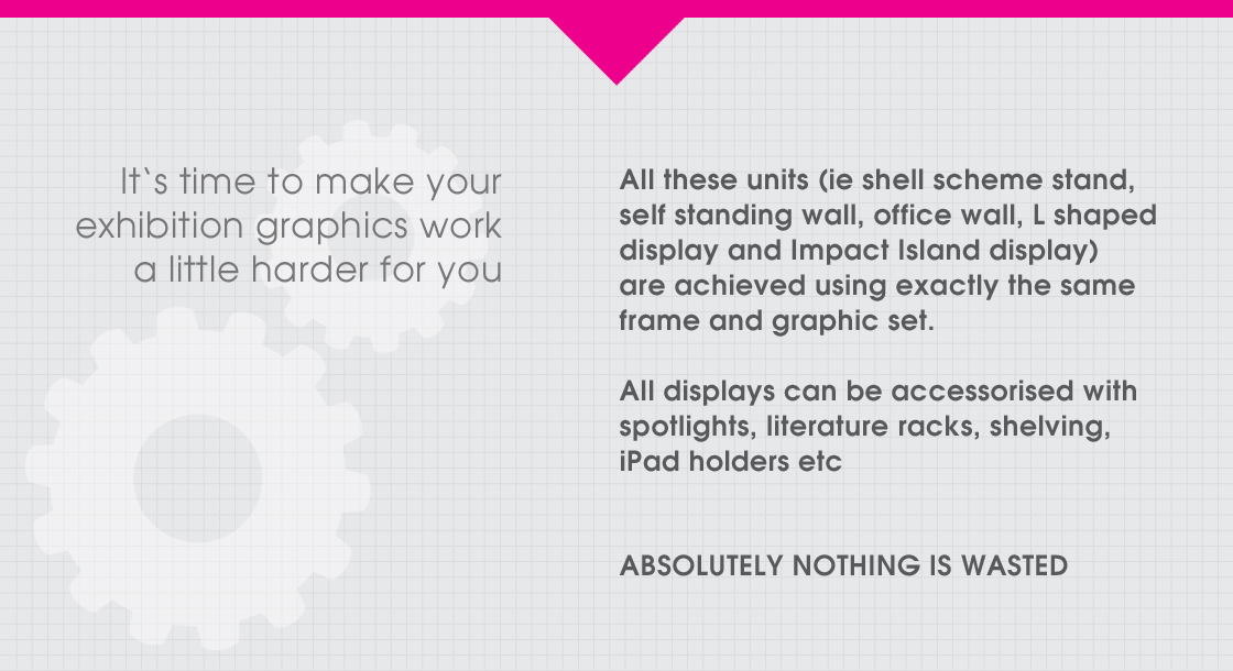 It's time to make your exhibition graphics work a little harder for you - ask about StandBuilder!